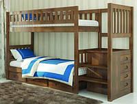Двухъярусная кровать Владимир ( с ящиками под ступенями) 900*1900, фото 1