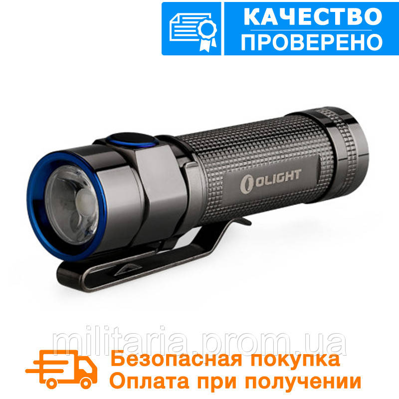 Фонарь Olight S1A BATON STAINLESS STEEL GUNBLACK XM-L2 COOL WHITE LIMITED EDITION 2016 {S1A BATON}