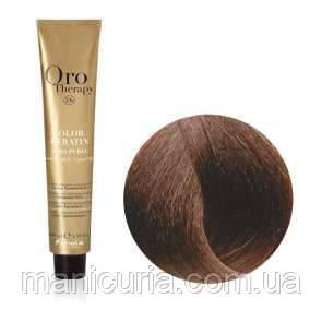 Безаммиачная крем-краска Fanola Oro Therapy Color Keratin 6.34 Темный блондин золотисто-медный, 100 мл