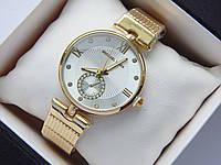 Женские наручные часы Michael Kors золото, серебристый циферблат