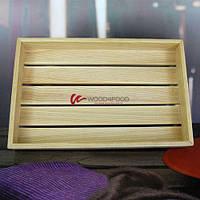 Деревянный ящик-бокс, 390*250*50 мм, ясень, масло/воск