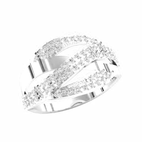 Кольцо  женское серебряное Лидия KE-1386