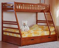 Двухъярусная кровать Юлия (с ящиками) Венгер