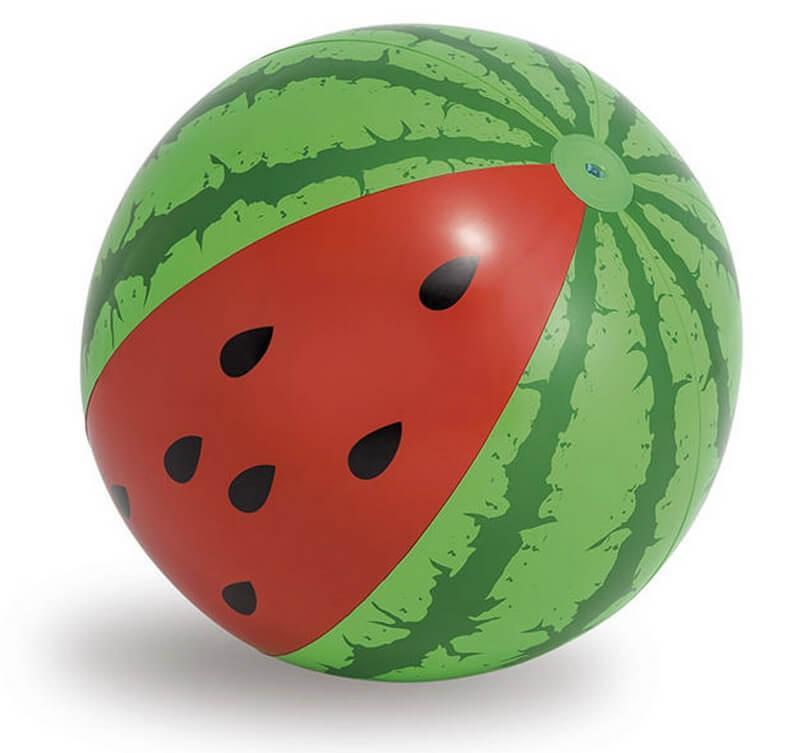 """Надувной мяч Intex диаметром 107 см """"Арбуз"""", мяч для воды, детский надувной мяч, 58071"""