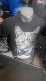 Мужская футболка Кот с бабочкой