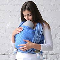 Тканый слинг-шарф Love & Carry — Море, размер 5 (4,2 м)