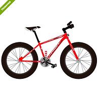 Спортивный велосипед Profi EB26POWER 1.0 S26.4 красный