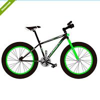 Спортивный велосипед Profi EB26POWER 1.0 S26.2 черно-зеленый
