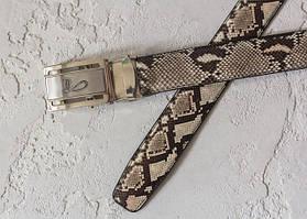 Ремені зі шкіри змії і пітона