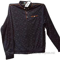 Пуловер мужской принт пуговицы батал (деми)