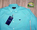 Праздничный комплект для мальчика бирюзовая рубашка Armani и бордовые брюки Polo, фото 4