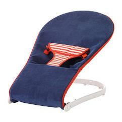 Переносное кресло для младенца IKEA TOVIG синий красный 501.679.69
