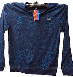 Пуловер мужской принт denim батал (деми)
