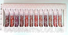 Набор Жидких Матовых Помад Kylie Jenner Matte Liquid Lipstick сердце бол.