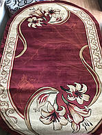 """Красный овальный ковер """"Лилия"""", фото 1"""