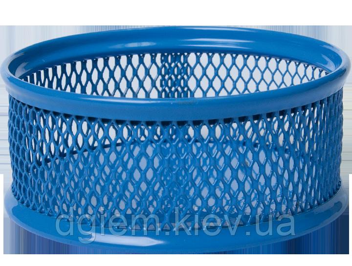 Підставка для скріпок BUROMAX металева синя