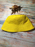 Панамка летняя двухсторонняя ™️IRIS, желтая короны