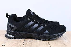 Мужские кроссовки, из текстиля, черные