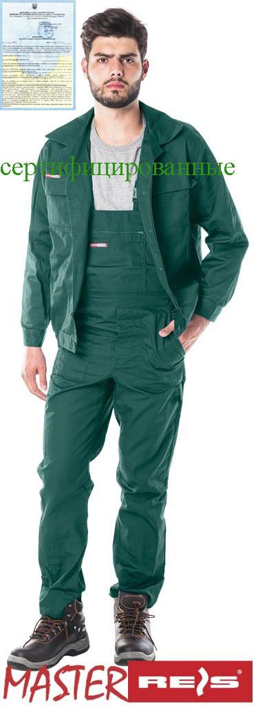 Костюм робочий зелений REIS Польща RAWPOL (комплект напівкомбінезон і куртка робоча) UM Z