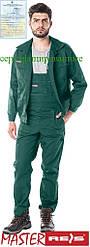 Костюм рабочий зеленый REIS Польша RAWPOL (комплект полукомбинезон и куртка рабочая) UM Z