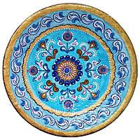 """Декоративная тарелка диаметром 42 см """"Глубина Неба"""" шамотной трипольской глины станет изысканным"""