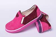 Кожаные туфли подростковые, детская обувь кожаная от производителя модель ДЖ5001