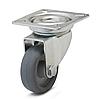 Колесо с поворотным кронштейном с площадкой, диаметр 50 мм, нагрузка 40 кг