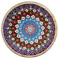"""Декоративная тарелка диаметром 42 см """"Вічна Україна. Відродження"""" шамотной глины станет 0340"""