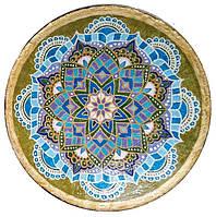 """Декоративная тарелка диаметром 42 см """"Тепло Сердца"""" шамотной трипольской глины станет изысканным"""