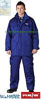 Комплект утепленный рабочий синий REIS Польша (костюм зимний брюки и куртка рабочая) UMO-LONG N