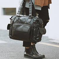 Мужская кожаная сумка спортивного стиля. Модель 04182, фото 2