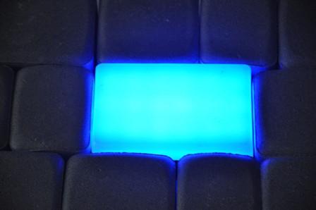 Светильник тротуарный RGB 10х20х6