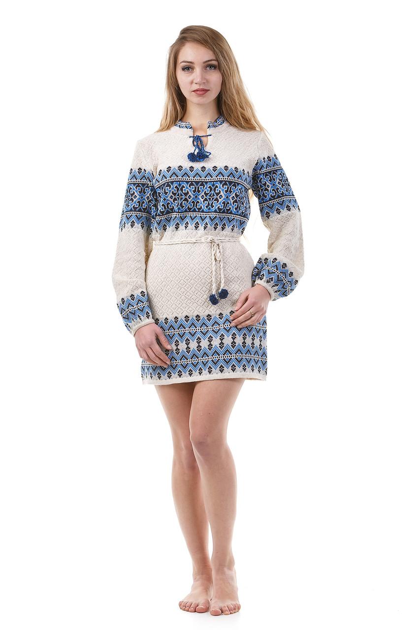 Оригинальное вязаное платье для женщин