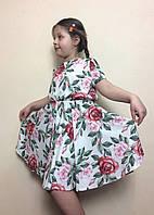 Детское платье из стрейч-шифона