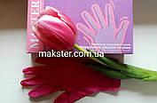 Перчатки нитриловые неопудренные розовые MAXTER , фото 3
