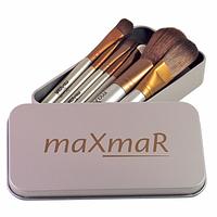 Набор кисточек для макияжа в металлическом футляре (8 инструментов) Silve MB-209