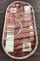 Терракотовый овальный ковер для дома, фото 1