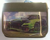 """Пенал на 1 отделения и 1 отворот """"Зелёная спортивная машина, зелёная спортивная машина"""" Kalnex"""