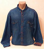 Рубашка джинсовая Redpolo батал р. 3XL, 4XL, 5XL