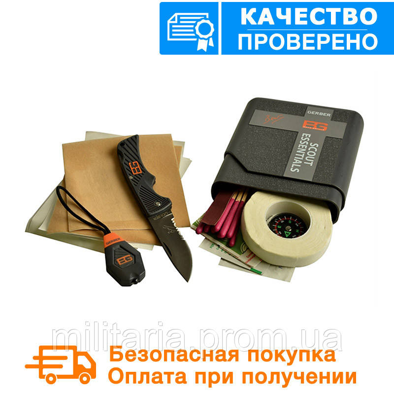 Набор для выживания Gerber Bear Grylls Scout Essentials Kit Plastic case (31-001078)