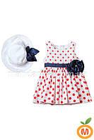 Платье и шляпка для девочки 1 год (80 размер)