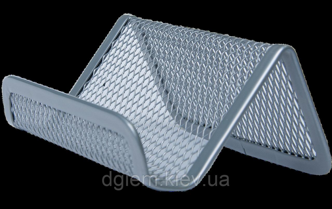 Подставка для визиток BUROMAX металлическая серебро