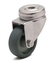 Колесо с поворотным кронштейном с отверстием, диаметр 100 мм, нагрузка 75 кг