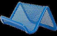 Подставка для визиток BUROMAX металлическая синяя
