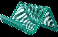 Подставка для визиток BUROMAX металлическая зеленая