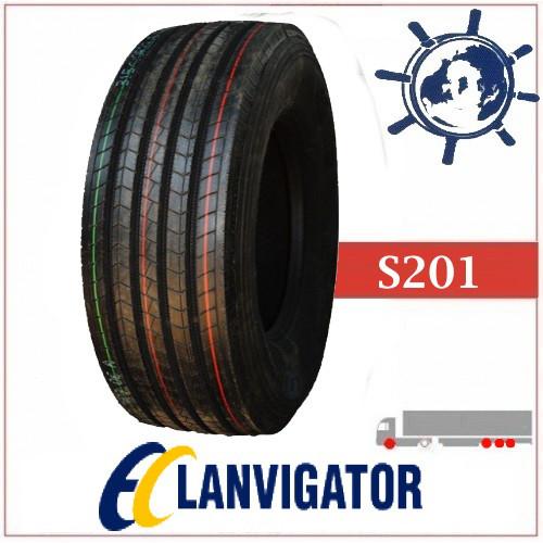 Грузовая шина 385/65R22.5 160L S201 LANVIGATOR рулевая, грузовые усиленные шины на прицепную ось Китай 20PR