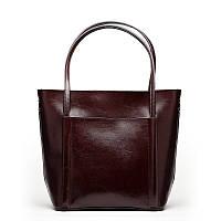 Женская кожаная сумка Grays темно коричневого цвета, фото 1