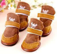 Теплые ботиночки на собаку