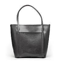 Женская кожаная сумка Grays серого цвета