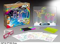 """Волшебная 3D доска для рисования """"Рисуем светом. Динозавры"""" ,  YM 191"""